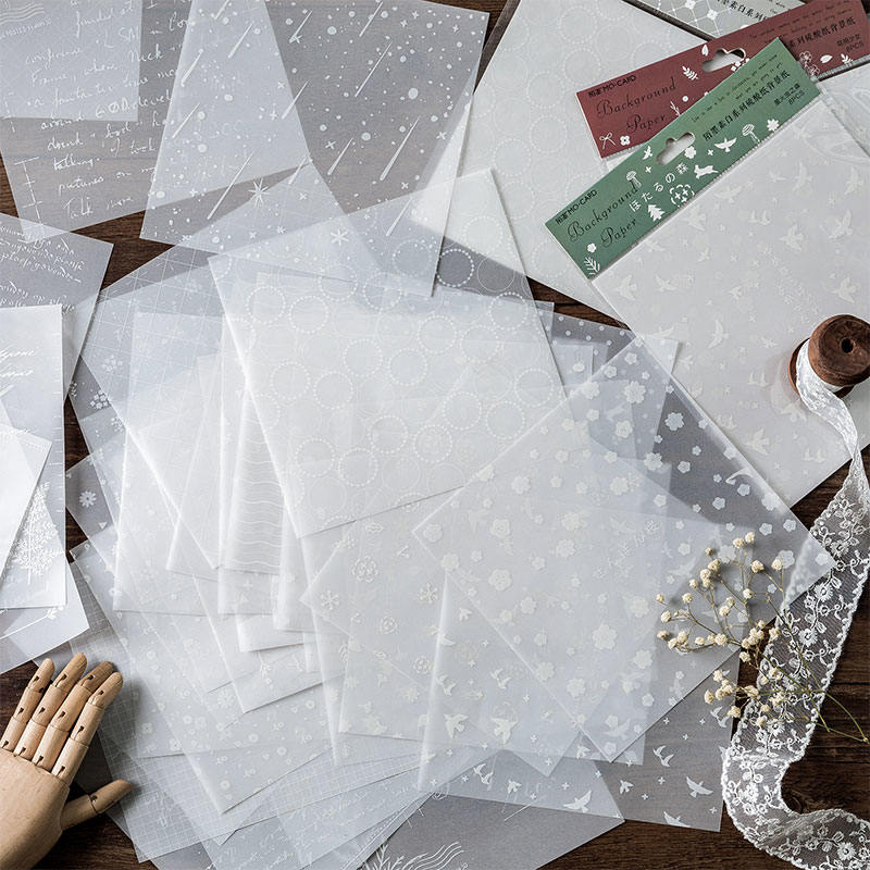 8pcs/lot Simple Line Grid Flower Star Material Paper Vintage English Love Letter Collage Sticker DIY Bulletjournal Scrapbooking