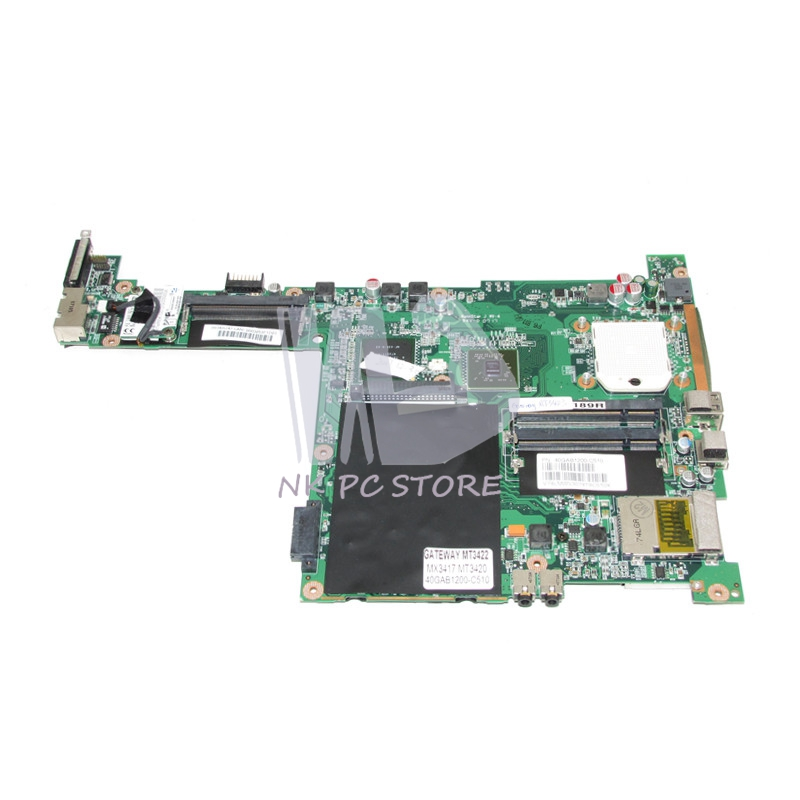 For Gateway MX3417 MT3420 MT3422 Laptop Motherboard 40GAB1200-C510 NF-G6100-N-A2 DDR2 Free CPU nf g6100 n a2