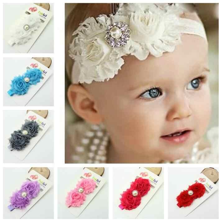 1 pieza MAYA STEPAN niños envolver la cabeza flor Floral bebé Headwear bebé recién nacido lazos encaje niñas pelo lazo banda cabeza