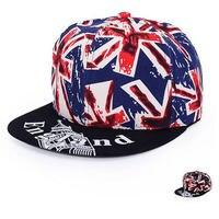 2015 New Fasion UK Flag Snapback Hat Cap Hip Hop Hats Baseball Caps Hiphop English Flag