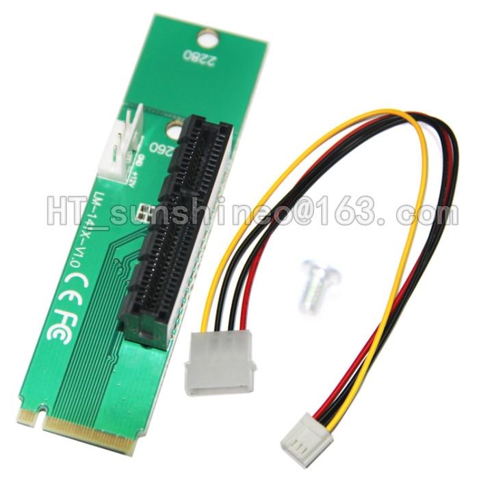 bilder für Freies verschiffen 50 TEILE/LOS NGFF M2 pci-e 4X Slot Adapter Karte M-taste m2 port SSD Port PCI Express Erweiterungskarte