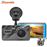 Bluavido 4 IPS Super Night Vision Car DVR ADAS 1296P Video Camera IMX323 Dual Lens Full HD 1080P Car Recorder Dashcam 170 Angle