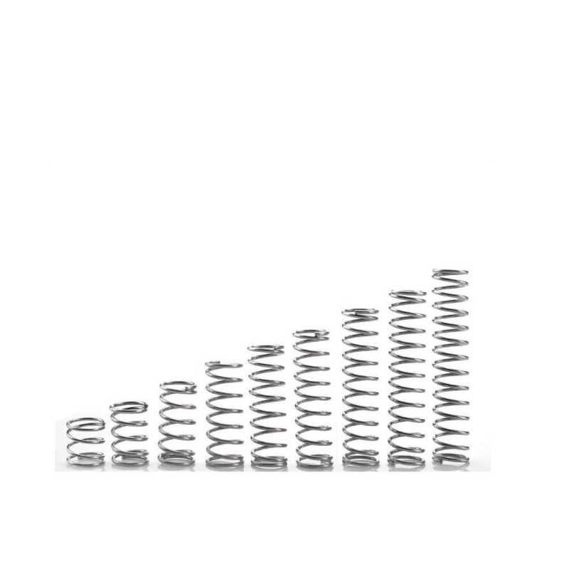 10 pces 304 de aço inoxidável mola de pressão de mola de compressão curto diâmetro de fio 0.8 * fora diameter14 * comprimento 10-50