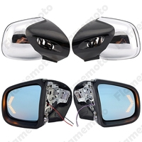 Chrome Motorcycle Accessories Rearview Side Mirrors LED Blinker Turn Signals For 1999 2008 BMW K1200LT K1200M UNDEFINED