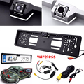 Hot Sale 2.4G Wireless EU Number Plate Frame Reverse Camera with LED Light Night Vison