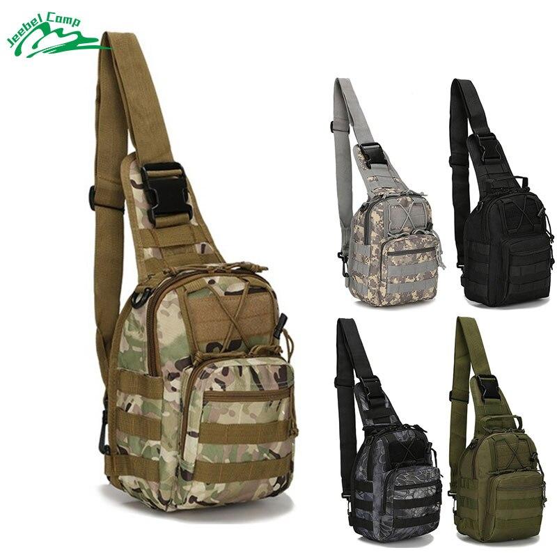 Jeebel 600D Shoulder Bag Military Tactical Camouflage Bag Camping Hiking Hunting Trekking Molle Cycle Waterproof Softback