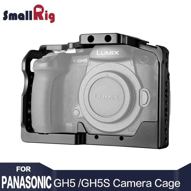 SmallRig DSLR Macchina Fotografica Gabbia Per Panasonic gh5 gh5/Lumix Dmc-gh5s Con Scarpa Freddo di Montaggio 1/4 3/8 Fori Filettati e nato Rail 2049