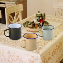 LETAOSK 8 см Открытый домашний Винтажный стиль ручной работы эмалированная чашка кружка для питья кофе медведь чай Кемпинг Туризм подарок