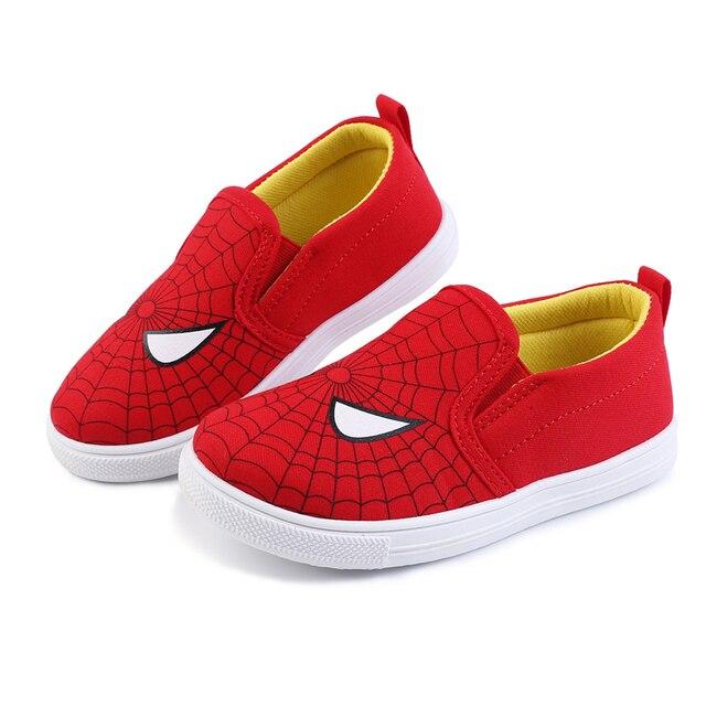 2019 специальная мягкая обувь для мальчиков, кроссовки с человеком-пауком, спортивная обувь для бега, детская повседневная обувь на плоской подошве, Детские лоферы, Супермен, Бэтмен, креативный