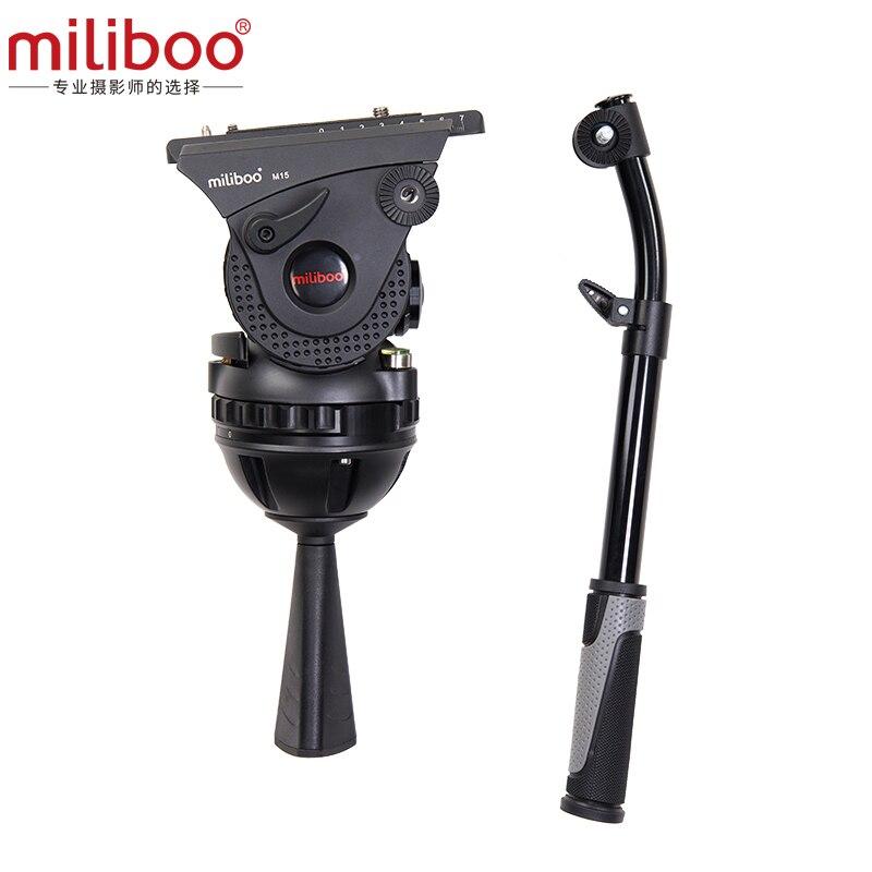 Miliboo M15 film de diffusion professionnel réglable caméra hydraulique tête fluide trépied tête support charge 15 kg avec bol 100mm