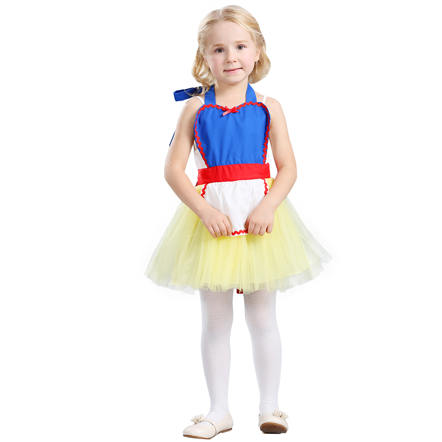 White pinafore apron costume - Summer Toddler Girls Snow White Dress Princess Apron Dress Halloween Party Cosplay Costume Baby Girl Clothes Vestido