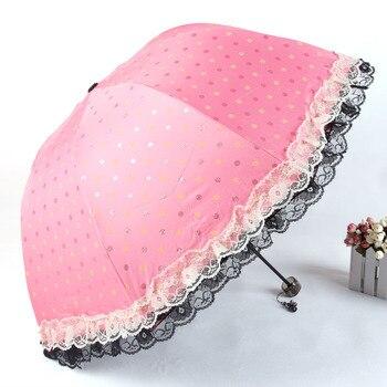 Aurora xb4319 La Leisi lace parasol umbrella UV umbrella folded umbrella advertising