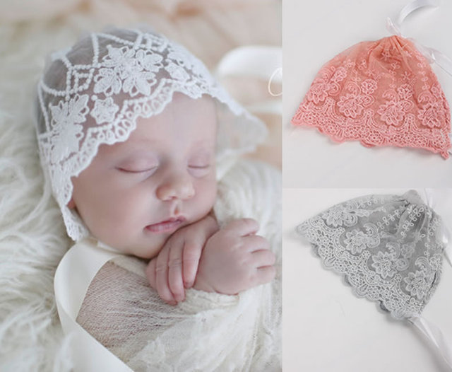 f55e9711e31 2017 New Arrivals Girl Infant Baby Newborn Kids Children Lace See through Hat  Cap Beanie Bonnet Girl Cute Hats Hair Accessories-in Hats   Caps from  Mother ...