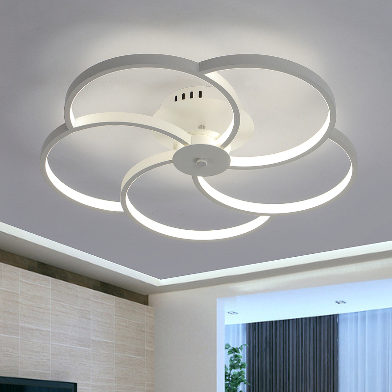 Фото modern minimalist living room lamp ring ceiling lighting personalized bedroom study dining room lighting
