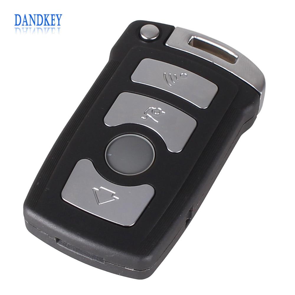 Dandkey 4 Button Fob Case For BMW 7 Series E65 E66 E67 E68 745i 745Li 750i 750Li 760i 7Remote Key With Small Key With Logo for bmw e65 e66 7 series oem front window windshield wiper blade set new 745i b7 oe 61 61 0 442 837 new