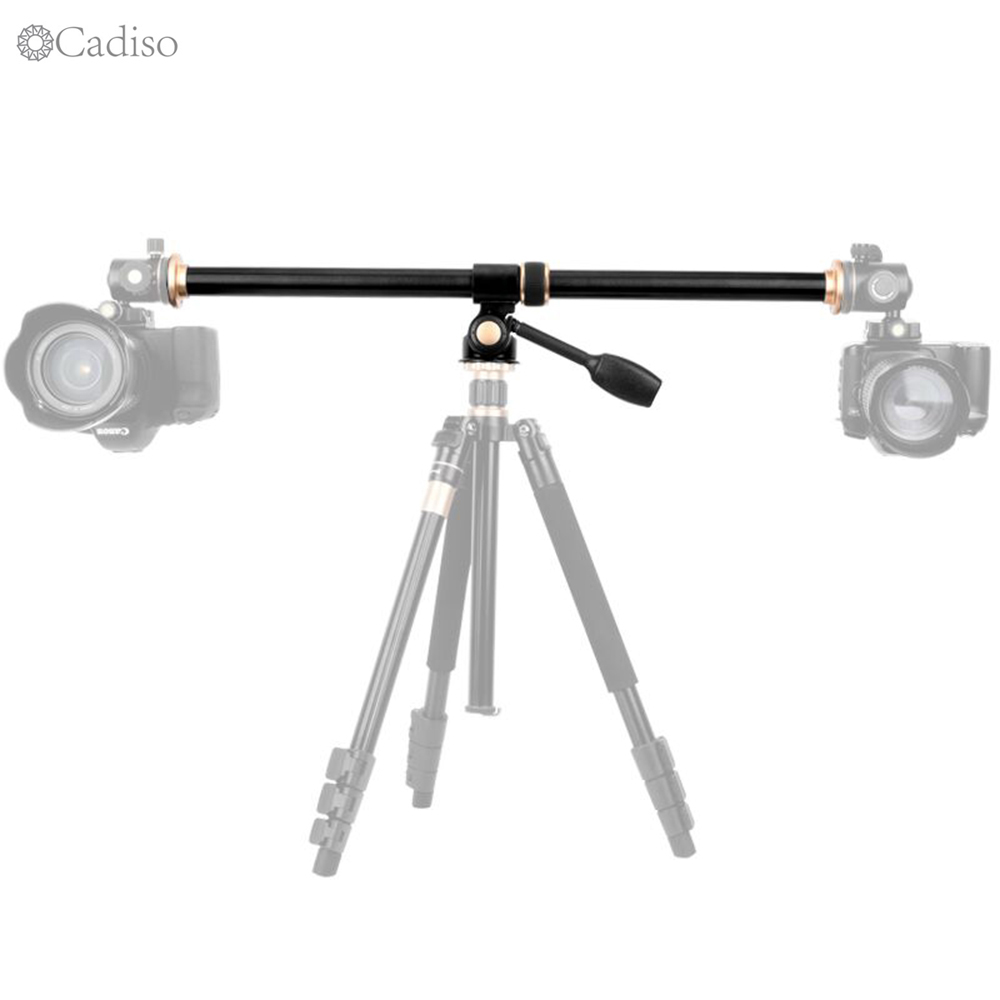 Cadiso Horizontal Bar Professional Camera Tripod Boom Extension Pole Steeve Multi-Angle Center Cross Arm With Locking System