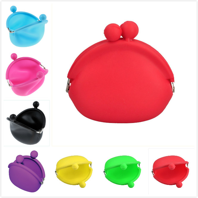 VSEN Hot fashion Lovely Design Wallets women casual Silicone Round Coin Purse Portable Lady Card Key Phone Bag Case