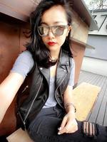 new 2019 fashion women's genuine real sheepskin leather female vest coat sleeveless turn down collar couple femme jacket black