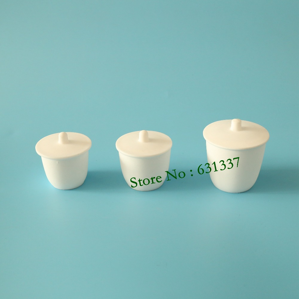 laboratory 40ml PTFE Teflon crucible breakers with cover 10ml ptfe teflon crucible breakers with cover