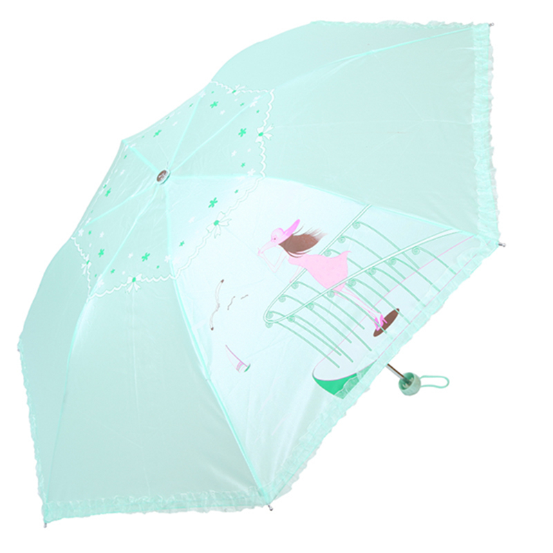 UV Umbrella Princess sun protection Lace Adult Ladies sunny Guarda Pluie Paraguas El Rey Leon Folding Umbrella Rain Women DDGX87