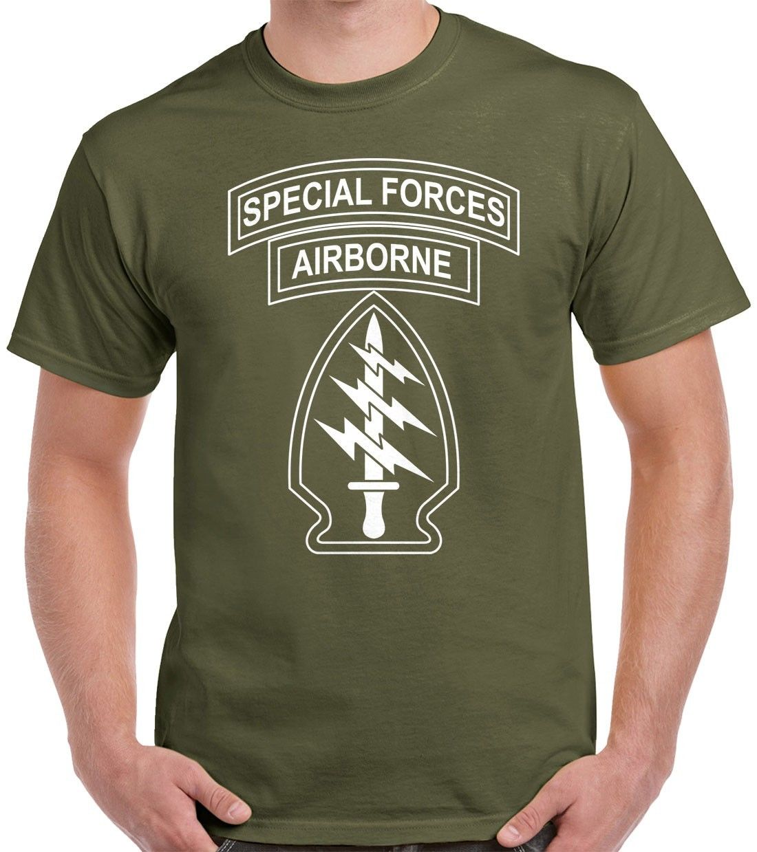Special Forces T Shirt Beret Patches <font><b>SF</b></font> Funny Short Sleeve <font><b>Tshirts</b></font> Summer Hip Hop Casual Cotton Tops Tees image