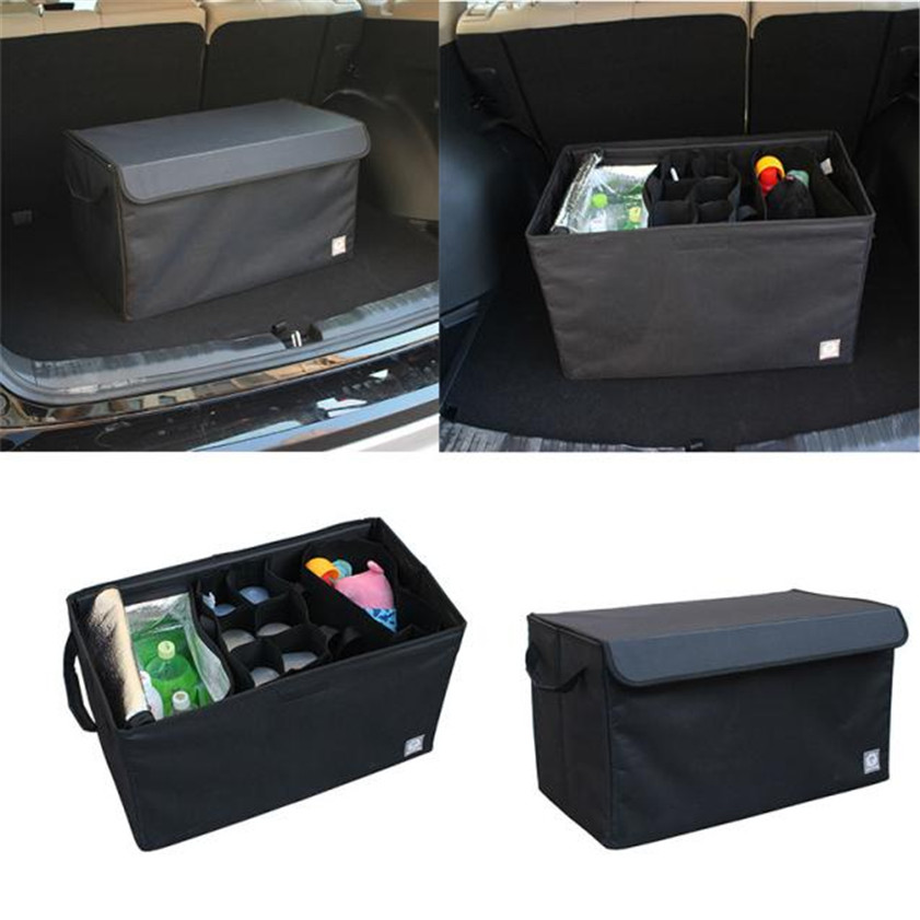 High Quality  Foldable Car Auto Back Rear Trunk Seat Big Storage Bag Pocket Cage Organizer New 1 pcs auto care car seat organizer