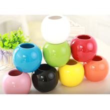 Explosion of Three-dimensional Ceramic Ball Handicrafts Accessories Home Furnishing Flower Vase Tabletop Decoration 8 Colors S $