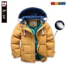 Brand KW 2016 Children Outerwear & Coats Girls Boys Warm Winter Down Coat Jacket Hooded Outwear Down Coat for Girls