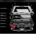 Doom armadura à prova de Choque Sujeira Tempo 4 liga de Metal de luxo celular phone case para iphone 4/4s 5/5s/se 6/6 s 6 plus + temperado vidro
