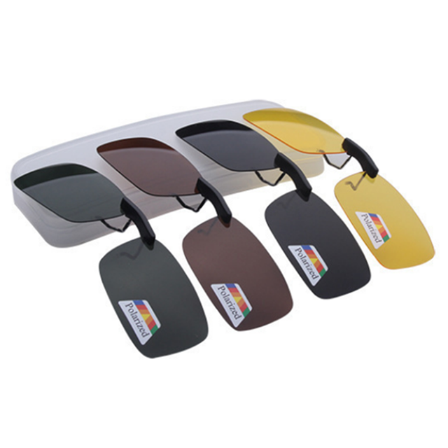 Unisex Polarized Clip On Sunglasses Near-Sighted Driving Night Vision Lens Anti-UVA Anti-UVB Cycling Riding Sunglasses Clip