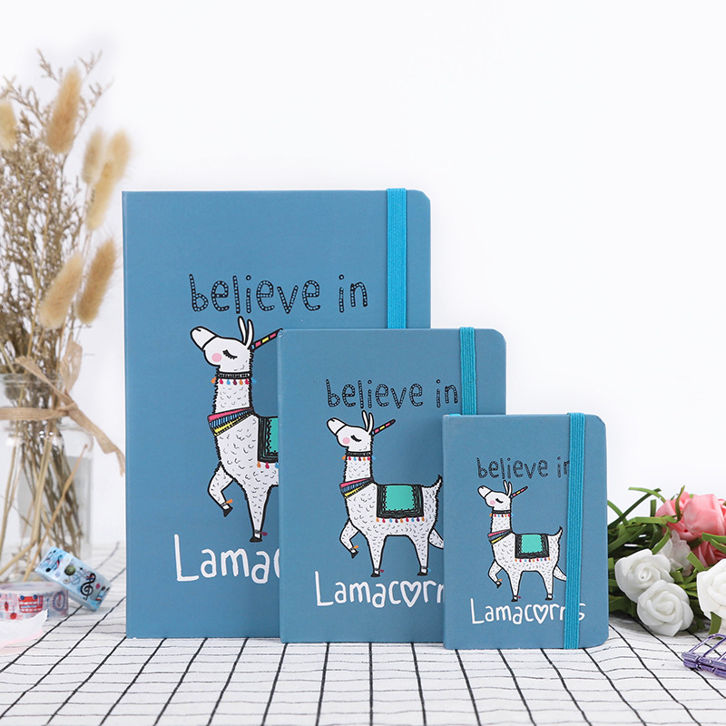 "Lama"" Cute Hard Cover Lined Notepad Journal Study Diary Notebook Journal Stationery Gift"