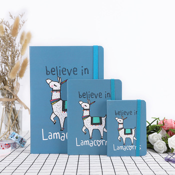Lama Cute Hard Cover Lined Notepad Journal Study Diary Notebook Journal Stationery Gift be happy hard cover notebook lined papers journal study diary notepad stationery gift black color
