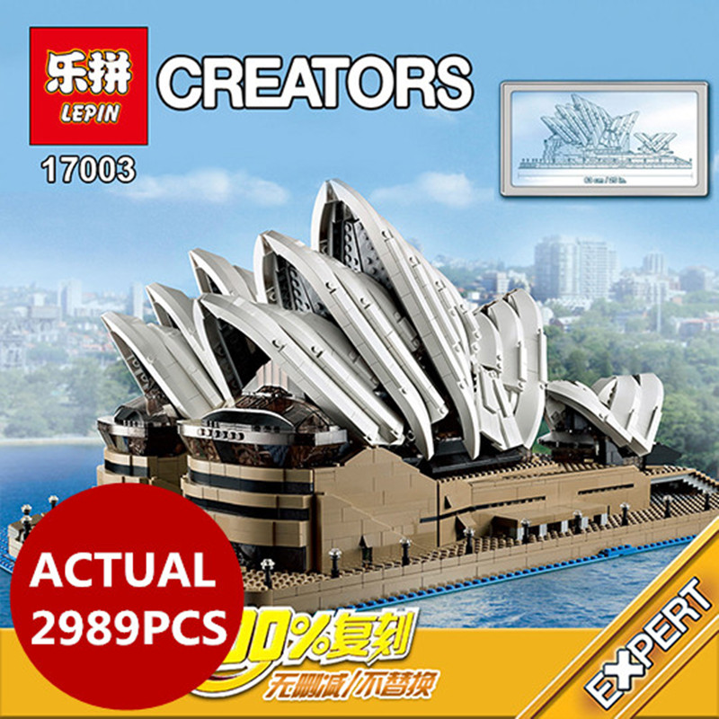 Lepin 17003 2989pcs creator Sydney Opera House model set building blocks bricks with 10222 birthday gifts boy toys lepin 17003 2989pcs sydney opera house model building kits blocks bricks toys compatible legoed 10222