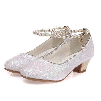 65051e174 ULKNN 2019 niñas sandalias de princesa niños zapatos de vestir para niñas  de tacón alto zapatos de niños sandalias de verano los niños fiesta sanda