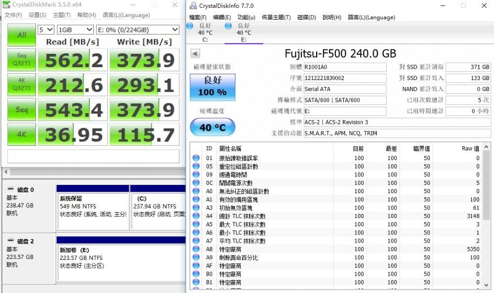 FUJITSU ssd 240 gb 2.5inch 120 gb 480GB SATA 6Gb/s TLC Read/Write Speed 500MB/s 3year warranty Solid State Drives for PC laptop 46
