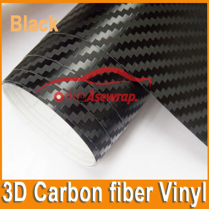 10/20/30/40 / CMx152CM hoge kwaliteit dikke 3D koolstofvezel vinyl 3D-film autosticker voor Car Wrapping