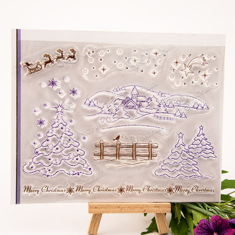 winter Transparent Clear Silicone Stamp/Seal for DIY scrapbooking/photo album Decorative clear stamp sheets
