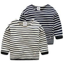 Baby striped shirt 2016 autumn outfit han edition of the new boy's children's wear children's leisure long-sleeved blouse