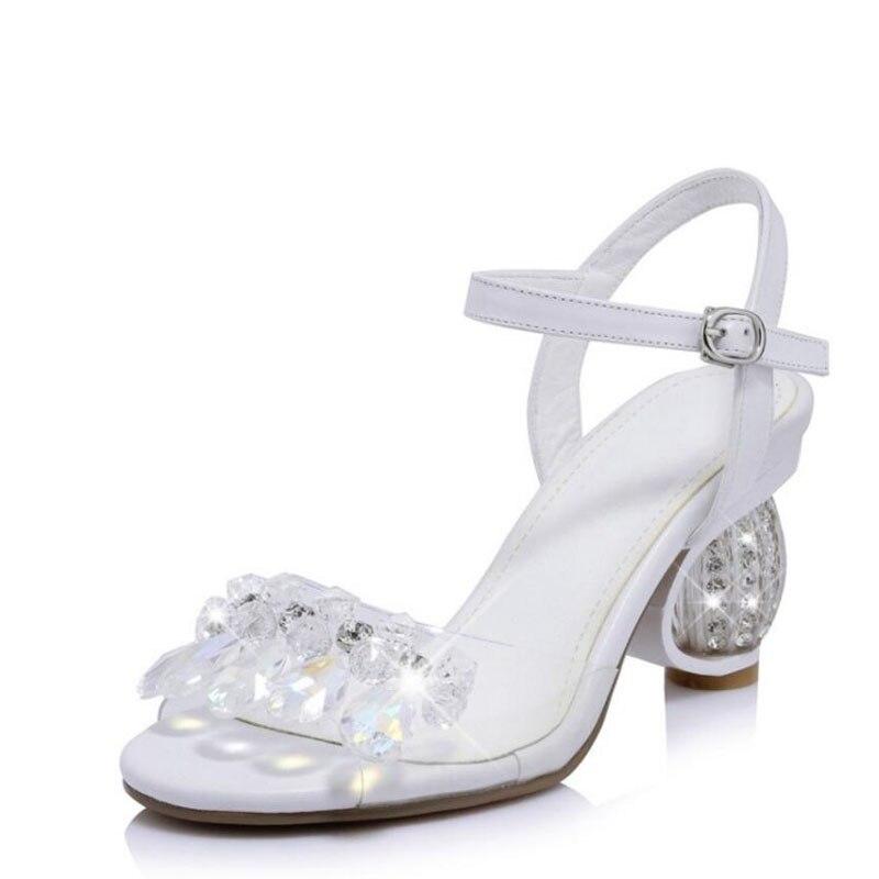 2017 genuine leather peep toe pearl crystal women sandals runway high heels rhinestone high quality wedding shoes 06 стоимость