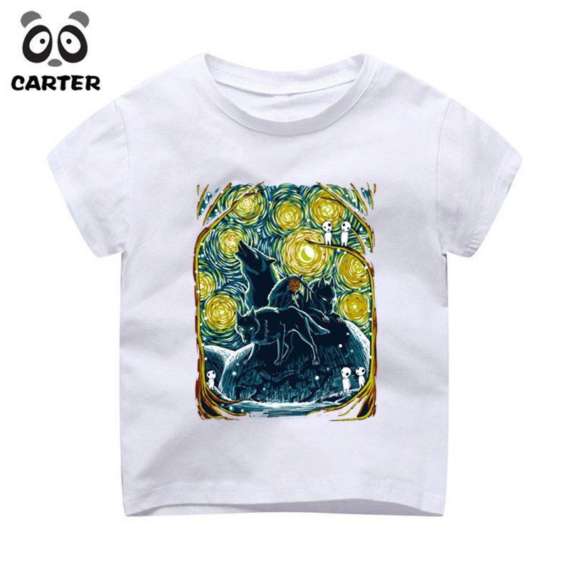 Kid Summer Design Doctor Who Booth Starry The Night Shirts Children Cute Cartoon T-shirts Boys Girls Baby Camisetas