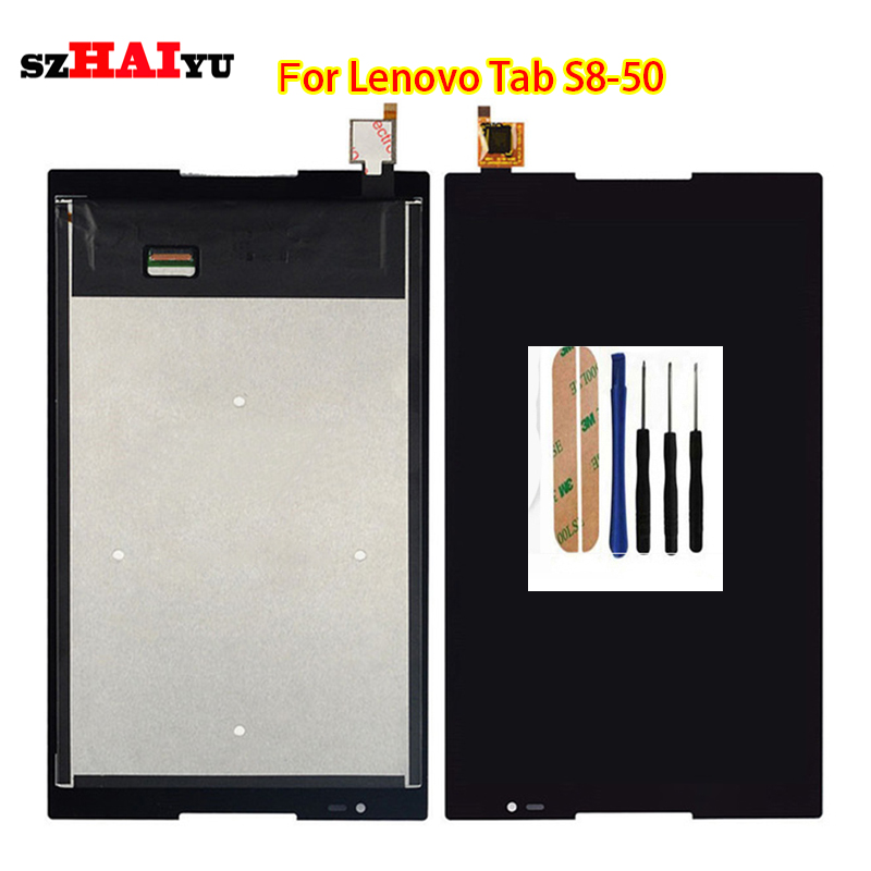 ФОТО Tested Good Working Black LCD Display+Touch Screen For Lenovo Tab S8-50 S8-50F S8-50L S8-50LC with Digitizer Assembly Tools