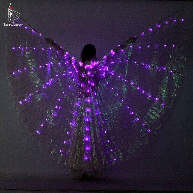 Alas danza Led danza del vientre alas de Isis brillante Led abierto ...