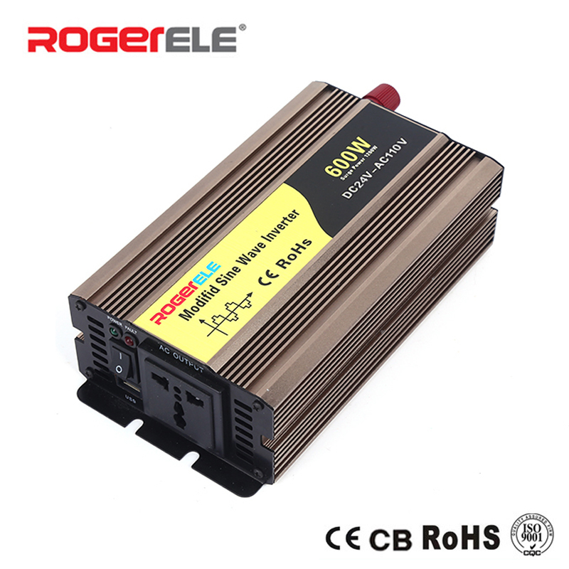 цена на 600W 12VDC/24VDC to 110VAC/220VAC Modified Sine Wave Inverter For Home Application With Solar System