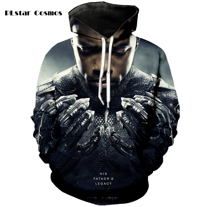 PLstar Cosmos brand movie Black Panther 3D printing fashion hoodie men and women spring and autumn sweatshirt S-5XL