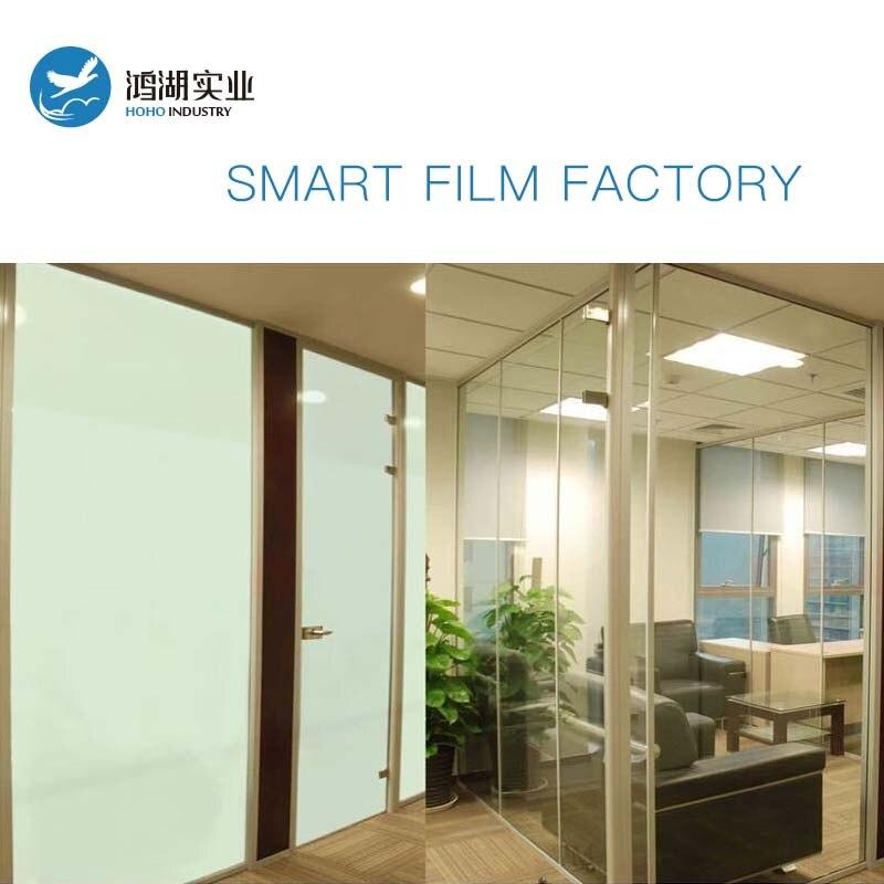 4 pièces 42x11 cm blanc électrique auto-adhésif PDLC Film intelligent verre fenêtre porte teinte Film intelligent