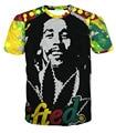 2016 New fashion 3d cute/funny t shirt printed Bob Marley T-Shirt Tees Men Women Characters 3d t shirt Funny Casual tee shirts