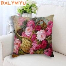 Throw Pillows Cushion Flower Home-Decor Sofa Living-Room Printed 45x45cm for Car