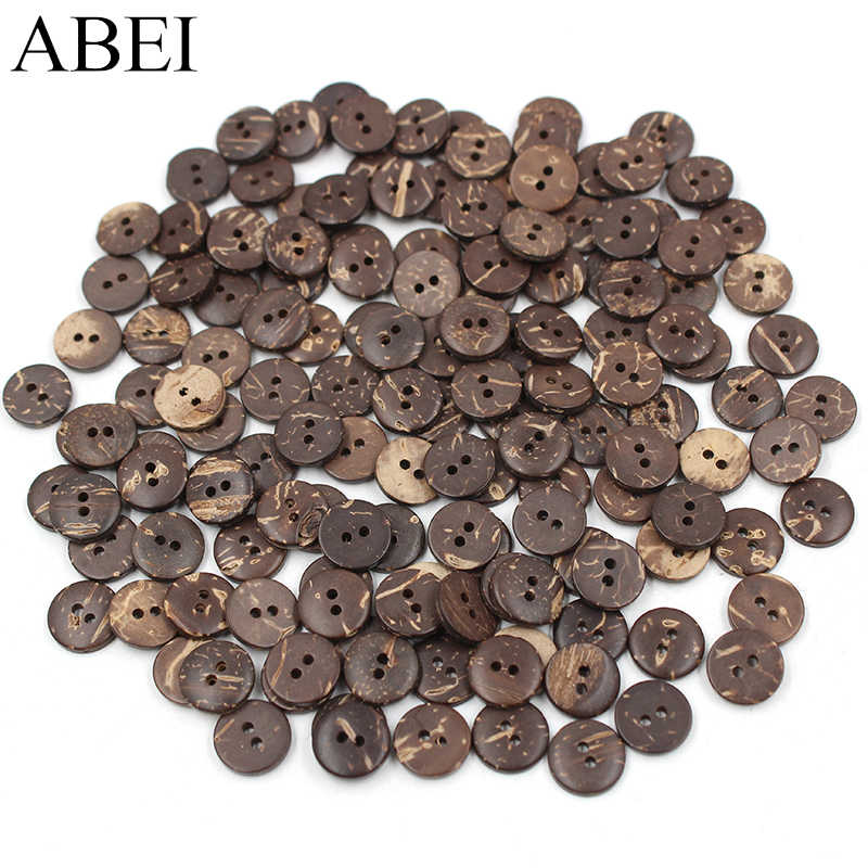 100pcs Wooden Square 2 Holes Buttons for Sewing Clothing Buttons Repair 13mm