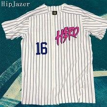 HIPJazer уличные майки Hero мужские бейсбольные майки хип-хоп бейсбольная полосатая рубашка Топы высшего качества