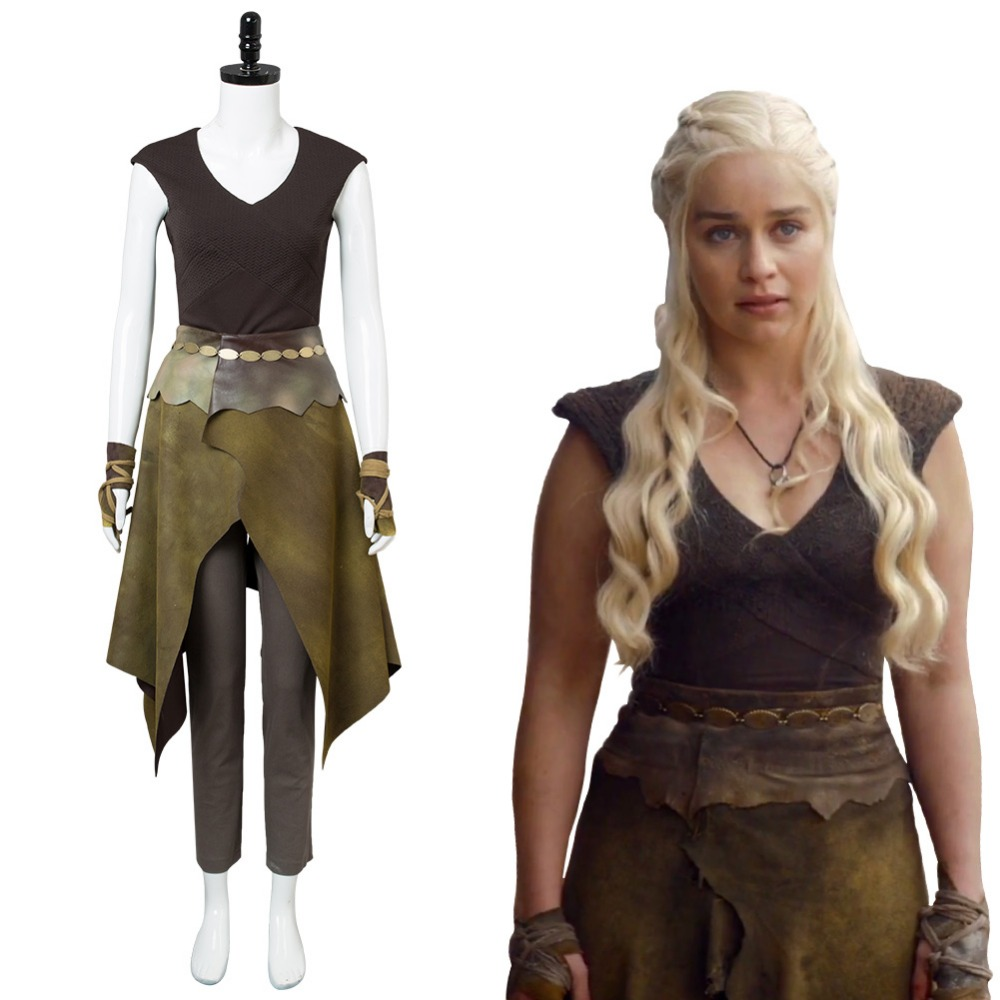 GOT Game of Thrones Season 6 Daenerys Targaryen Dany Indigenous Cosplay Costume